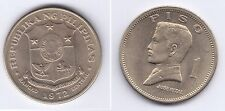 FILIPINAS 1972  1 PISO JOSE RIZAL   NI  AUNC  KM:203