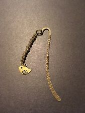 Bronze coloured Bird Charm Bookmark - Ideal Little Gift