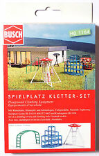 H0 BUSCH Spielplatz Kletter Set Kletterturm Kletterpilz Kletterbogen DDR # 1164