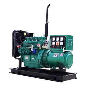 24KW 3phase Military Generator Engine Diesel Quiet Standby Brush Alternator Home