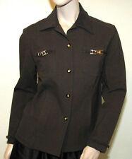 St. John Sport Marie Gray  P Petite Small Brown Lightweight Jacket or Top