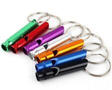 5pcs Mixte Porte-clé Clip Secours Sécurité Aluminum Sifflet Survie Randonnée NF