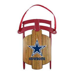 Dallas Cowboys NFL Metal Sled Christmas Ornament - New in Box