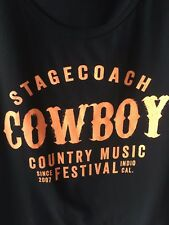 Stagecoach Cowboy Country Music Festival Tank Top Official Black Men's XL NWOT
