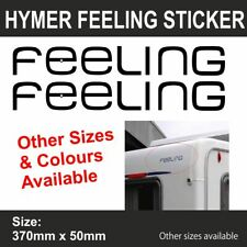 HYMER ERIBA CARAVAN MOTORHOME CAMPER FEELING   Sticker-Decal-Graphic    (BB301)