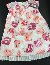 Catimini Butterfly pink white Dress Size 6A French Summer 2015 Spirit Couture