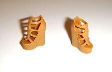 Barbie Doll Sized Tan Platform Sandals Heels Shoes For Model Muse Doll mj6-5