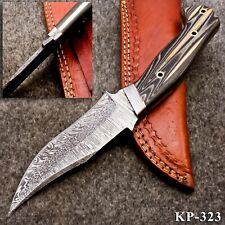 KP-323 Custom Hand forged Damascus Steel Hunting Knife with Micarta Handle
