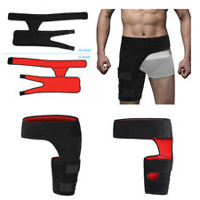 Black Adjustable Groin Brace Wrap Thigh Support Pain Relief Strain Neoprene Hip