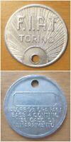 FIAT Torino Gettone valore 1/2 paga base + contingenza in caso di smarrimento