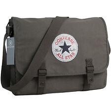 CONVERSE Umhängetasche Schultertasche Überschlagtasche Tasche VINTAGE PATCH Grau