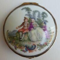 Couvercle de boîte - Porcelaine Meissen / KPM - Watteau-Szenen - XVIIIe