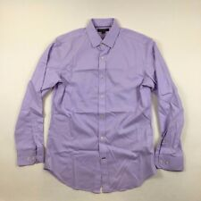 "Mens Banana Republic Non iron Tailored Slim fit shirt Purple Size M16.5 neck 42"""