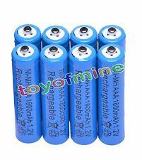 8x AAA 1800mAh 3A 1.2 V Ni-MH Blue Rechargeable Battery Cell for MP3 RC Toys