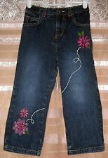 Faded Glory 4T Adorable Floral Embroidered Jeans Ships Free
