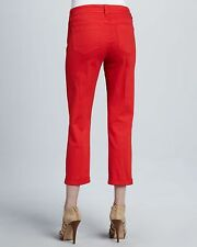 NWT  Ret $88  NYDJ     Ankle   Cuff Crop Jeans   POPPY ORANGE  Size 2