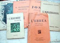1912  LOTTO 6 LIBRETTI D'OPERA LIRICA VERDI CILEA PETRELLA CIMAROSA PONCHIELLI
