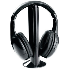 Cordless Headphone Wireless Headset FM Radio Transmitter For MP3 TV 5In1