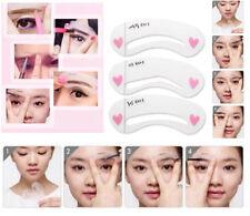 3 Eyebrow Stencils Grooming Shaper Kit Brow Makeup Template Guide