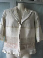 Alberto Makali Cotton Blend Embroidery n Lace Deco Hook Up Lined Blazer Jacket 4