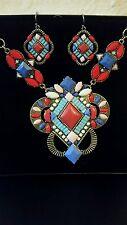 New Avon BOHO Princess Necklace Earrings Set Original Box Signature Collection