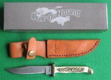 FOX-n-HOUND DAMASCUS DAKOTA SKINNER Stag Handle knife/knives - FH609 -New In Box