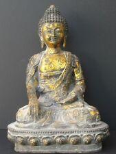 GRAND Bouddha en Bronze doré de CHINE