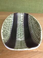 Vintage Candy Bowl Made In Germany Green And Black German Pottery