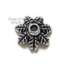 8 Caps calottes coupelles Fleur 13.5x13.5x4mm Perles apprêts créat  bijoux A357