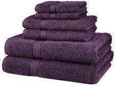 Pinzon Egyptian Cotton  6-Piece Towel Set, Plum, New, Free Shipping