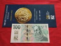 100 Korun 2019 Banknote UNC COMMEMORATIVE OVERPRINT RAR Kronen Crown