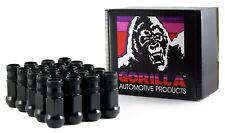 "Gorilla Forged Racing Lug Nuts Kit 12-1.50 Thread, 3/4"" (19mm) Black 45138BC-20"