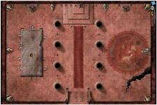 Dungeon's and Dragon's: Red Hall of Vor Rukoth Vinyl Game Mat 72760