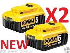 DEWALT 2 x DCB184 18V XR 5.0AH Battery Lithium Ion BRAND NEW Li-Ion Genuine