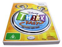 Disney Think Fast The Family Quiz Nintendo Wii PAL *Complete* Wii U Compatible