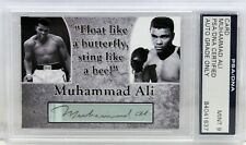 MUHAMMAD ALI SIGNED AUTOGRAPHED CUSTOM CARD PSA/DNA GRADED MINT 9 SLABBED