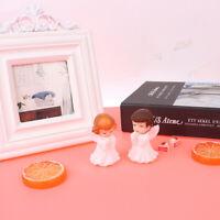 2PCs Mini Angels Figurines Odorless Sculpture Decor For Desktop Car Garden Ca Jf