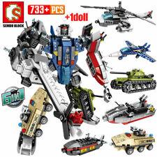 6in1 Transform King Kong Robot Steel Mecha Building Block Car Brick Kid Toys DIY