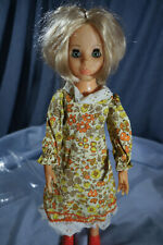 1960s Ideal Crissy Family Friends Doll Outfit Fall Floral Prairie Dress
