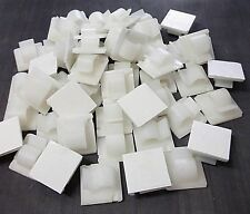 Cable clips. Seld adhesive. Medium. 25mm x 25mm. Cable. Sleeving. *Pack of 50..
