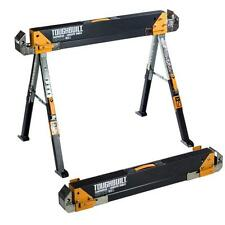 Adjustable Sawhorse Folding Heavy Duty Metal Portable Saw Horse Tool Toughbuilt