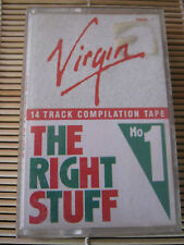 Virgin The Right Stuff No. 1 Various RETRO compilation MIX cassette Tape