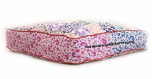 Patchwork Mandala Floor Cushion Case Dog bed Square Pillow Cover Indian Orttoman