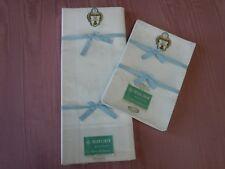 "Gold Medal Irish Linen Damask Tablecloth 70 x 88"" & 8 Napkins 22"" Hudson Bay Co"