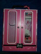 Barbie Wardrobe Closet 2013 Mattel Storage Furniture Portable Travel Case