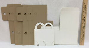 Cardboard Gift Boxes White or Brown Jewelry Wedding Favors Business Supply NEW