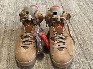 Brand New In Box! Travis Scott x Nike Air Jordan 6 Retro-British Khaki Size 11