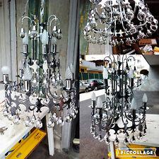 Bellissimo lampadario anni 60 vintage con palle in vetro