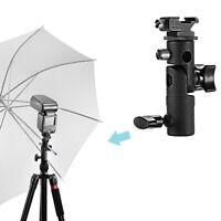 AU_ JF_ IC-  New Type E Swivel Flash Bracket Umbrella Holder Hot Shoe Stand