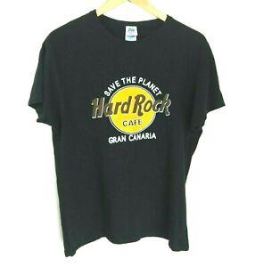Vintage HARD ROCK CAFE Gran Canaria Cotton T-Shirt Size S
